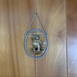 VTG Glass Cat Light Catcher